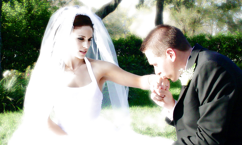 Alexandria And Nathan Glowing After Their Ceremony