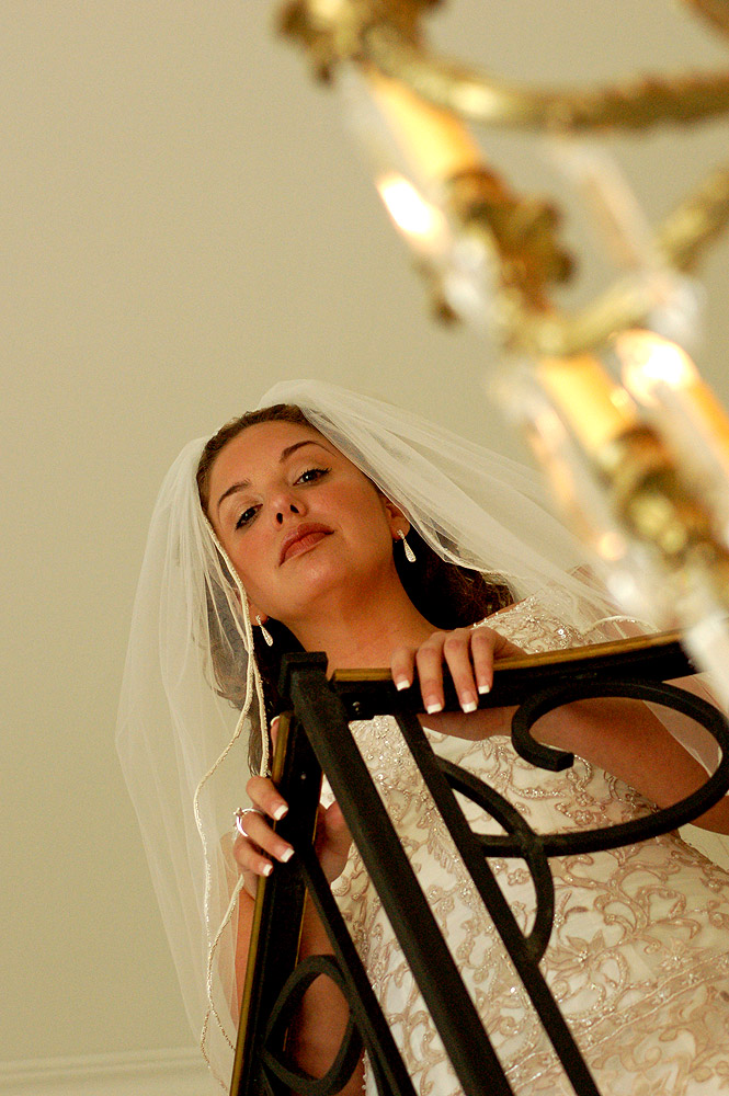 Michelle, Minutes Before Walking Down The aisle