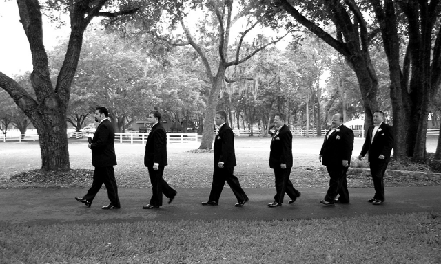 The Pastor, Groom And His Groomsmen