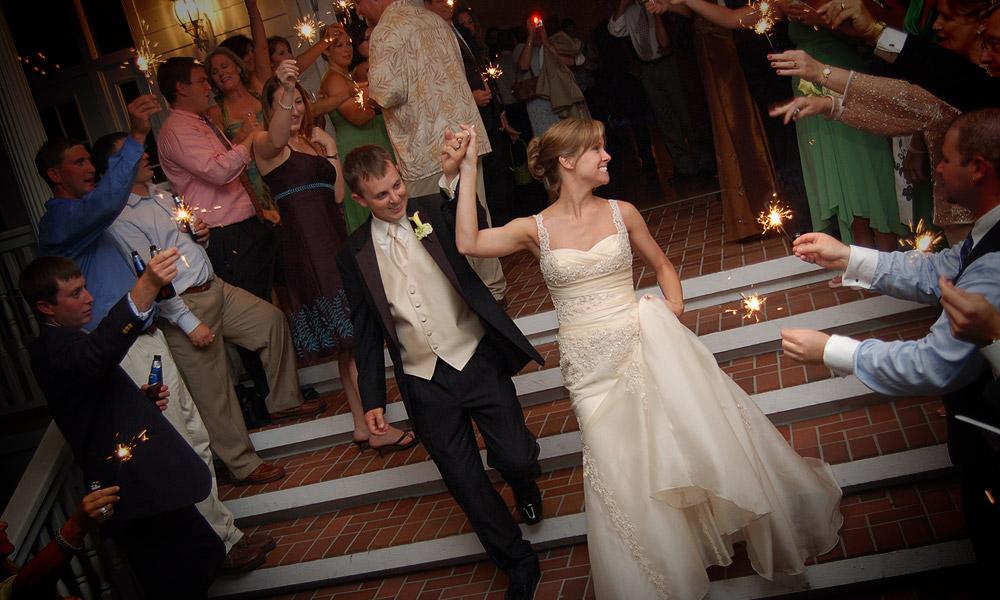 Ben Leading His Bride To The Getaway Car